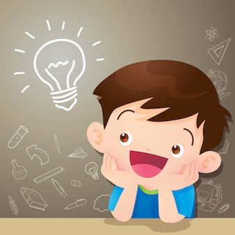 Idea di pensiero del ragazzo dei bambini