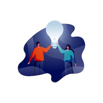 Idee di ispirazione o illustrazione di lavoro di squadra
