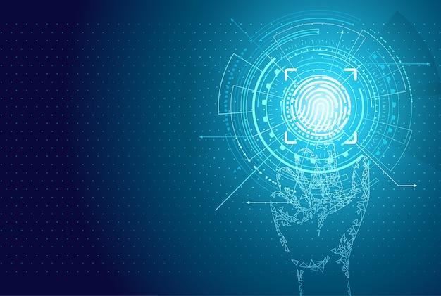 Identificazione person identity fingerprint poster