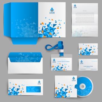 Identità aziendale blu