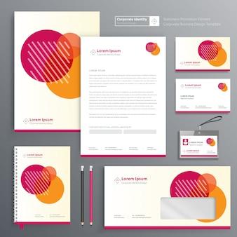 Identità aziendale per articoli di cartoleria