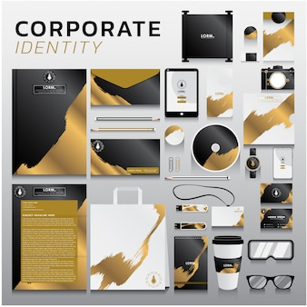 Identità aziendale per la progettazione di business e marketing