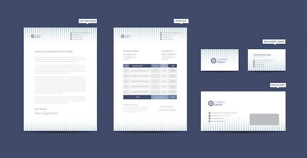 Identità del marchio aziendale | design della cancelleria | carta intestata | biglietto da visita | fattura | busta | progettazione di avvio