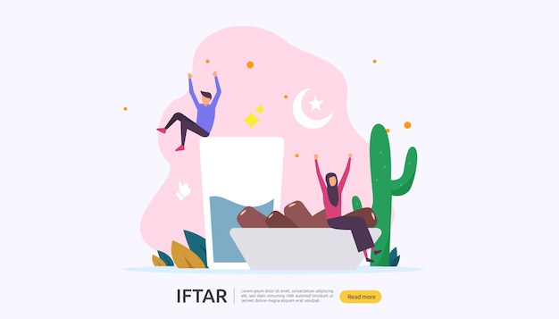 Iftar eating after fasting festeggia il concetto di festa