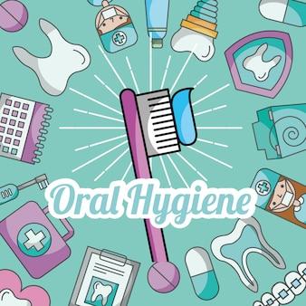 Igiene orale spazzolatura pasta cure dentistiche