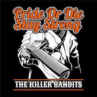 Il bandito assassino. dare una pistola.