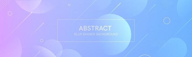 Il banner astratto con le forme sfumate e lo sfondo sfocato con colori chiari. la composizione dinamica della forma.