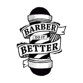 Il barbiere lo fa meglio nel design tipografico