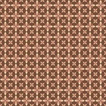 Il batik indonesiano senza cuciture con vari motivi di cultura tradizionale javanese, batik kawung nella colorazione marrone, può essere applicato a tutto il tessuto