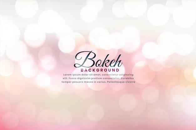 Il bello bokeh molle illumina l'effetto di fondo