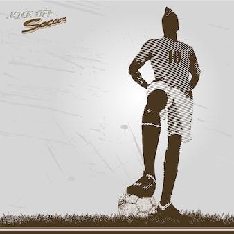Il calciatore d'epoca parte