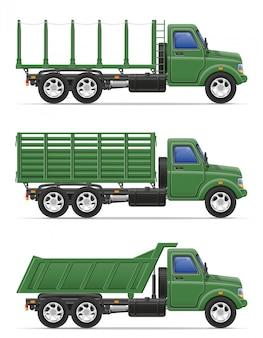 Il camion del carico per il trasporto delle merci vector l'illustrazione