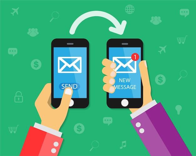 Il cellulare invia un nuovo messaggio