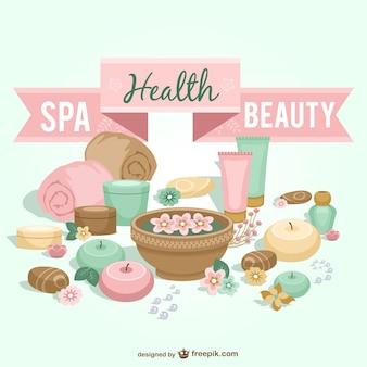 Il centro benessere e la bellezza grafica vettoriale