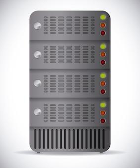 Il cloud computing design, illustrazione vettoriale.