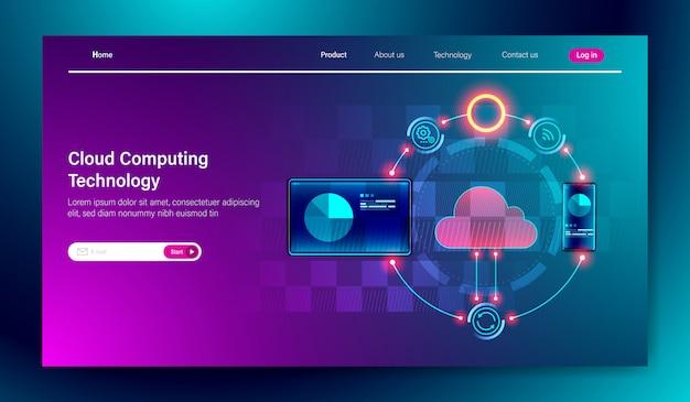 Il cloud computing tecnologia di archiviazione online