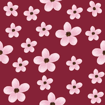 Il colore pastello rosa senza cuciture del modello fiorisce il fondo.