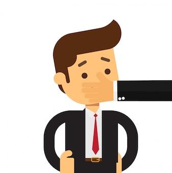 Il colpo dell'uomo di affari chiude il concetto