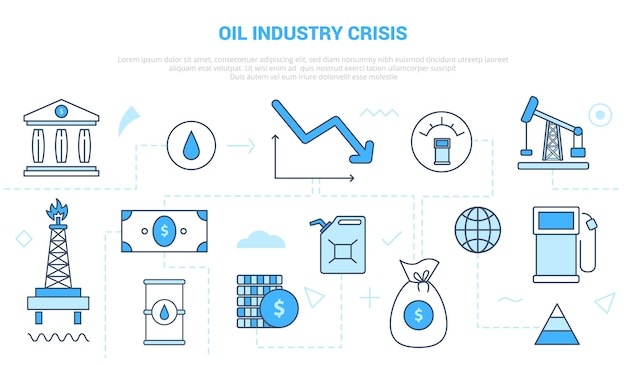 Il concetto di crisi dell'industria petrolifera e del gas cade