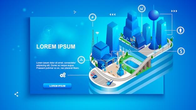Il concetto di smart cloud intelligente città