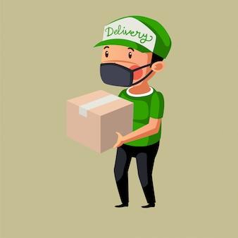 Il corriere consegna il suo pacchetto cliente