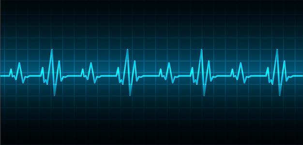 Il cuore batte il fondo del cardiogramma