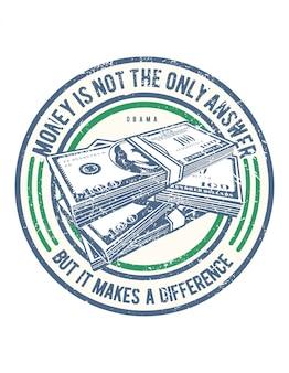 Il denaro non è l'unica risposta design illustrazione