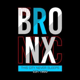 Il design cool della tipografia grafica bronx