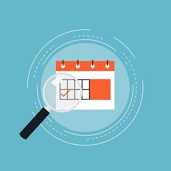 Il design del calendario di sfondo