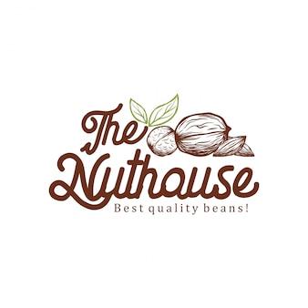 Il design del logo della casa nut