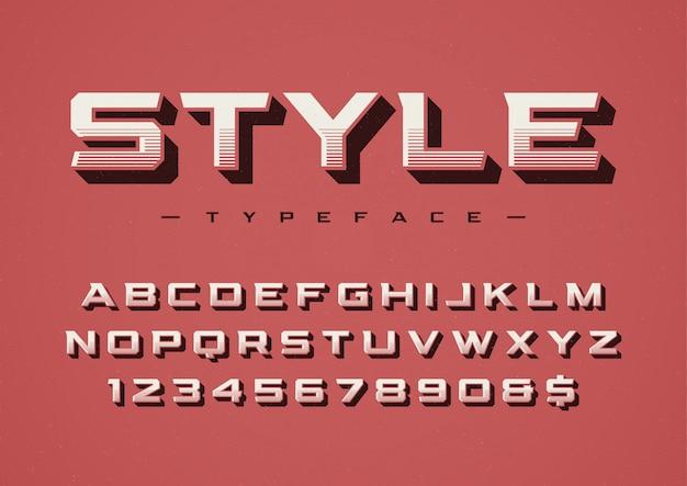 Il design di carattere display alla moda stile retrò