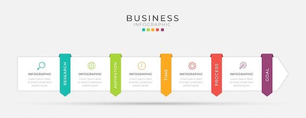 Il design infografico aziendale può essere utilizzato per il layout del flusso di lavoro, diagramma, relazione annuale.