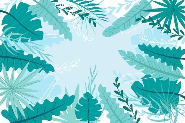 Il design tropicale lascia lo sfondo