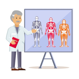 Il dottore shows type human body