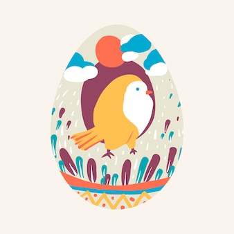 Il festival di pasqua ha dipinto il vettore dell'uovo