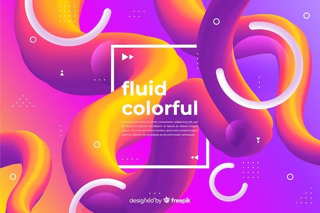 Il fluido gradiente modella lo sfondo