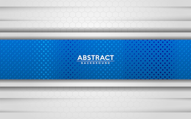 Il fondo bianco e blu astratto moderno con sovrapposizione 3d mette a strati l'effetto di struttura.
