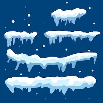 Il ghiaccio della neve si blocca in inverno