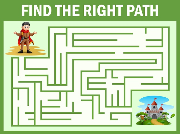 Il gioco del labirinto trova la via del principe verso il palazzo