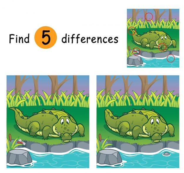 Il gioco per bambini trova differenze