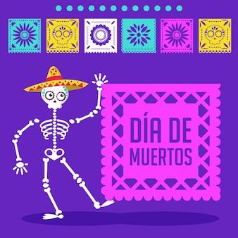Il giorno dei morti carta dei cartoni animati