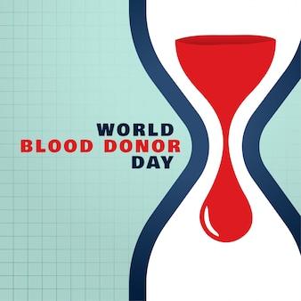 Il giorno del donatore di sangue del mondo salva il fondo di concetto del sangue