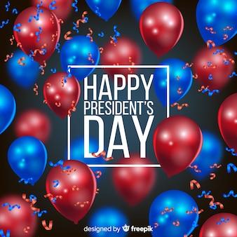 Il giorno del presidente con palloncini realistici