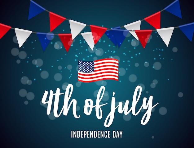 Il giorno dell'indipendenza negli stati uniti può essere utilizzato come banner o poster