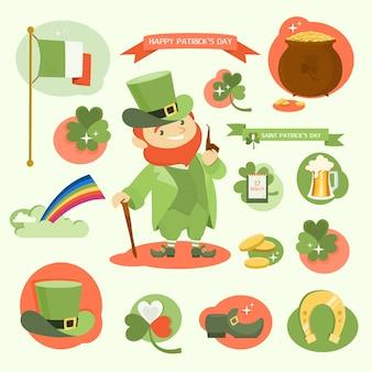 Il giorno di san patrico. buone vacanze insieme con leprechaun.