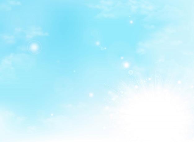 Il giorno soleggiato dell'estate astratta si appanna il fondo del tempo