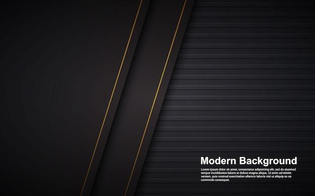Il grafico di vettore dell'illustrazione della sovrapposizione nera di lusso del fondo astratto mette a strati moderno