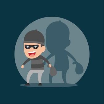 Il ladro ruba nella notte