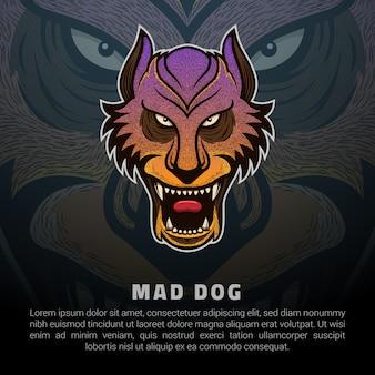 Il logo del cane pazzo