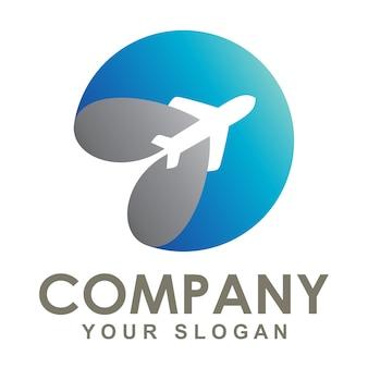 Il logo dell'aeroplano girava intorno alla terra